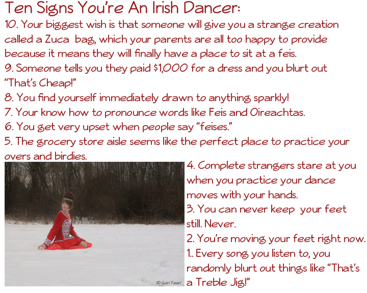 10 Signs Irish Dancer