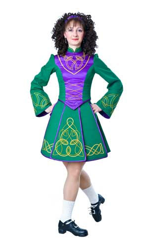 Three panelled Irish dance dress